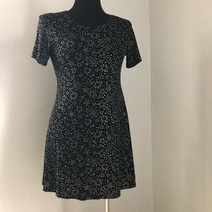 Dresses & Skirts - 1990s Vintage Skater Dress with Sparkly Stars sz s